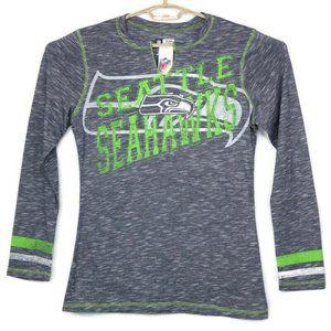 Seattle Seahawks NFL Shirt XL V-Neck Long Sleeve